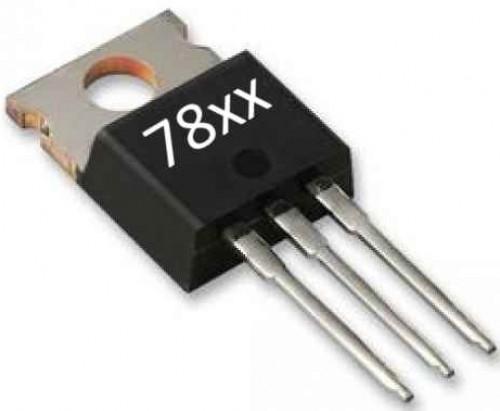 Zapojení stabilizátoru 78xx