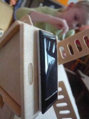 Stavebnice dřevěný mlýn na solární pohon